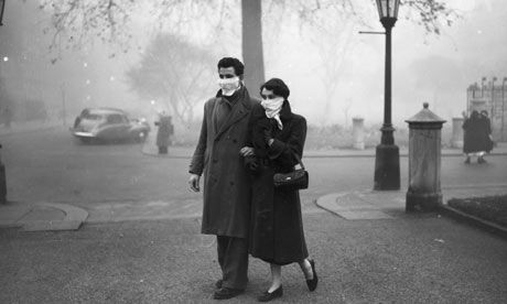 1950s London in the fog