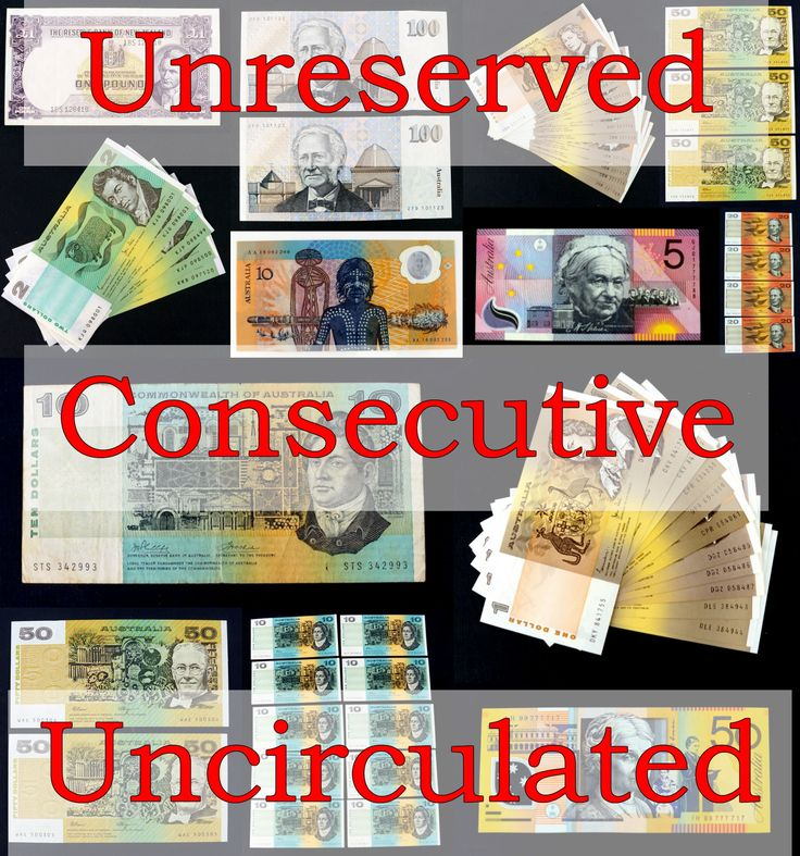 Unreserved, Uncirculated & Consecutive - All under the hammer Thursday from 7pm.  View & Bid here: