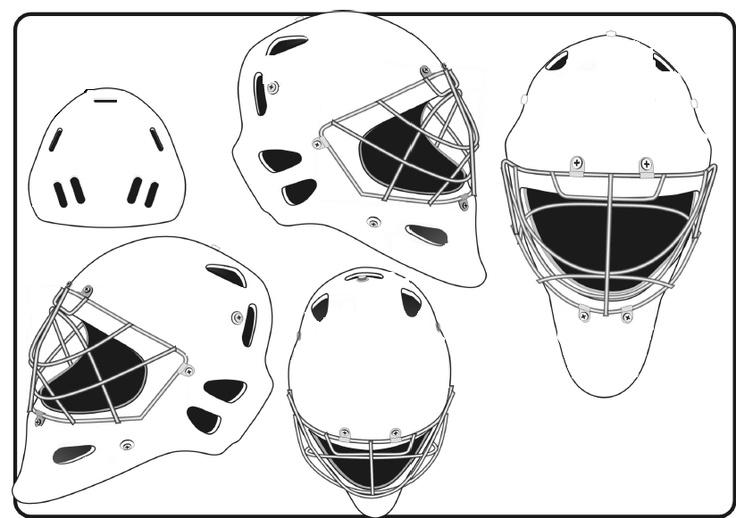Goalie Mask Template Different Sides Blank Hockey Mask Goalie