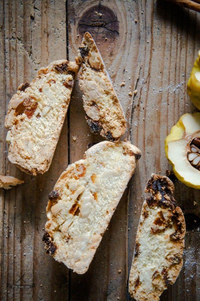 Biscotti z morelami i migdałami Almond and apricot biscotti polzarciempolserio.pl