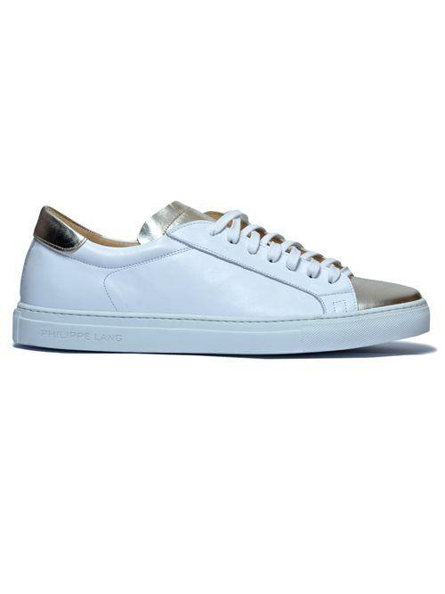Philippe Lang δερμάτινο sneakers 1221 λευκό-ασημί,Centrostile.gr, Online Shop, Ενδύματα - Υποδήματα -Αξεσουάρ
