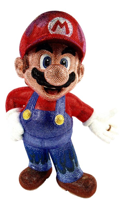Exemple of creation with rhinestones : A model of our favorite plumber Mario!