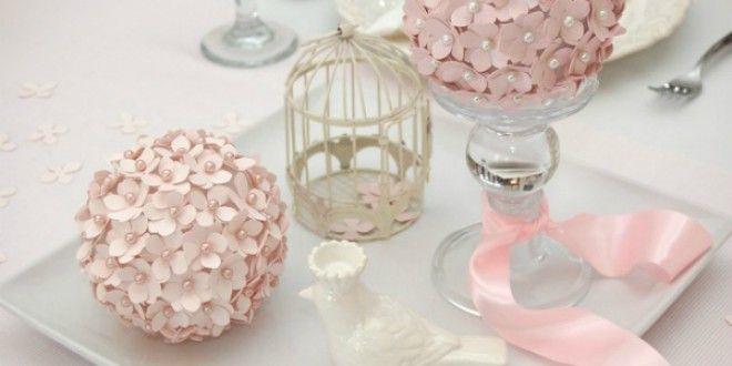 Passo a passo: Centro de mesa com flor de papel