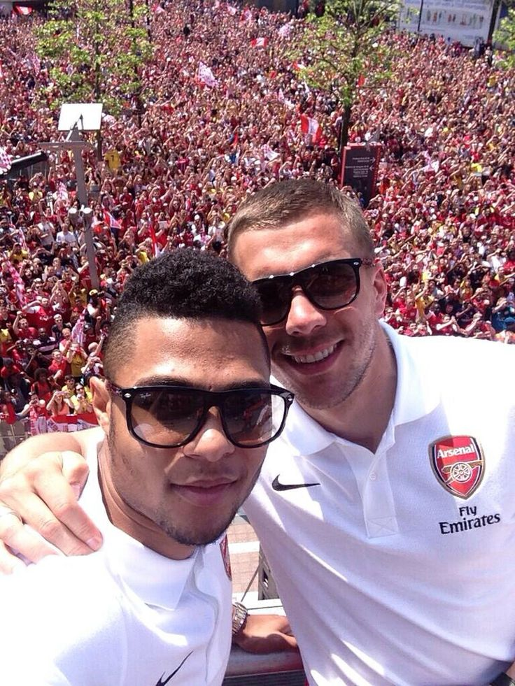 Poldski and Gnarby at victory parade