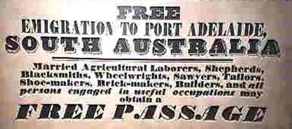 Emigration from England to South Australia in the 1800s | Lonetester HQ