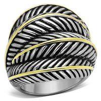 PR8102GOC Masívny prsteň z chirurgickej ocele  #supersperky #krasnesperky #prsten #krasnyprsten #somsexy #sexyprsten