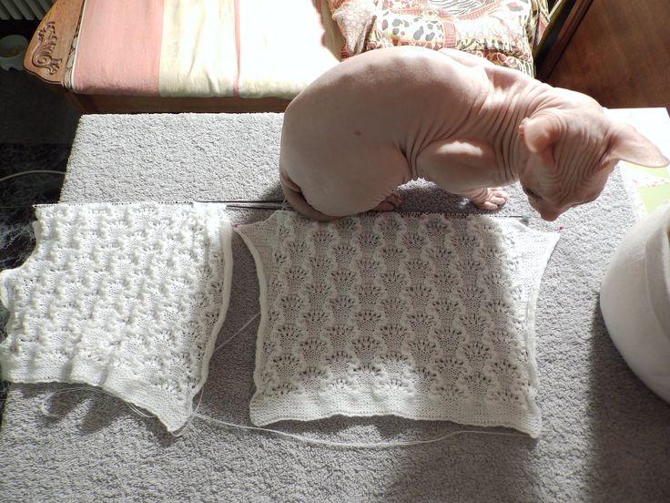 Вязание ( ажурная вязаная кофточка ) - YouTube