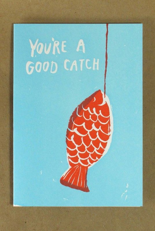 Egg Press - Card - You're a Catch  - Available from NoteMaker.com.au #Valentinesday #Valentines #Valentinecards