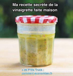 Et si vous êtes comme moi, votre compteur de calories explose à chaque fois que vous faites un gros repas entre amis :-) Avec cette délicieuse vinaigrette, vous allez pouvoir vous empiffrer de délicieuses salades entre tous ces gros repas, bourrés de calories.  Découvrez l'astuce ici : http://www.comment-economiser.fr/la-meilleure-vinaigrette-maison.html?utm_content=buffer13653&utm_medium=social&utm_source=pinterest.com&utm_campaign=buffer