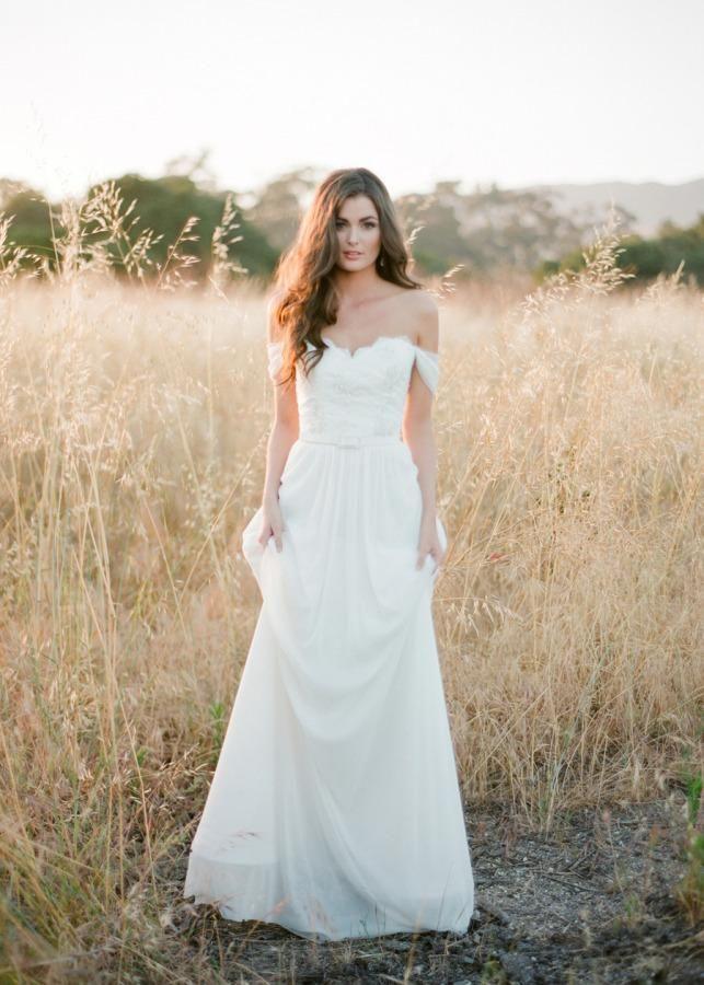 1000 Ideas About Off Shoulder Wedding Dress On Pinterest