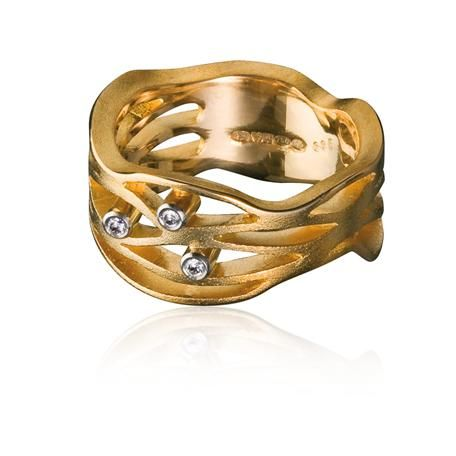 Lapponia - 18K gold Diamond Flow ring