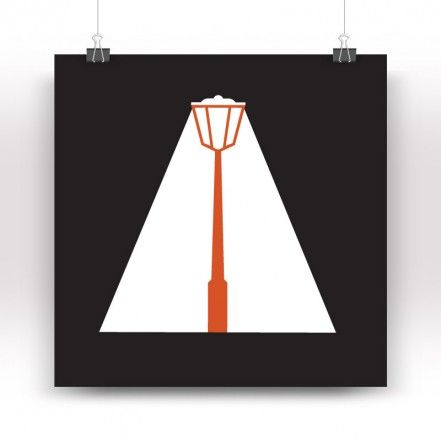 Lampioneluce Print, Black