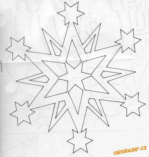Papierové filigrány Bíle Vánoce