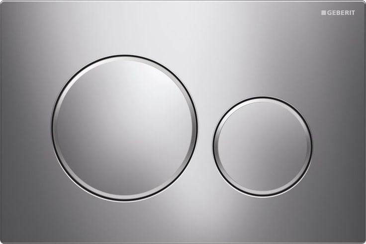 Geberit Sigma20 dvojčinné tlačítko, pochromovaná lesklá/matná/lesklá