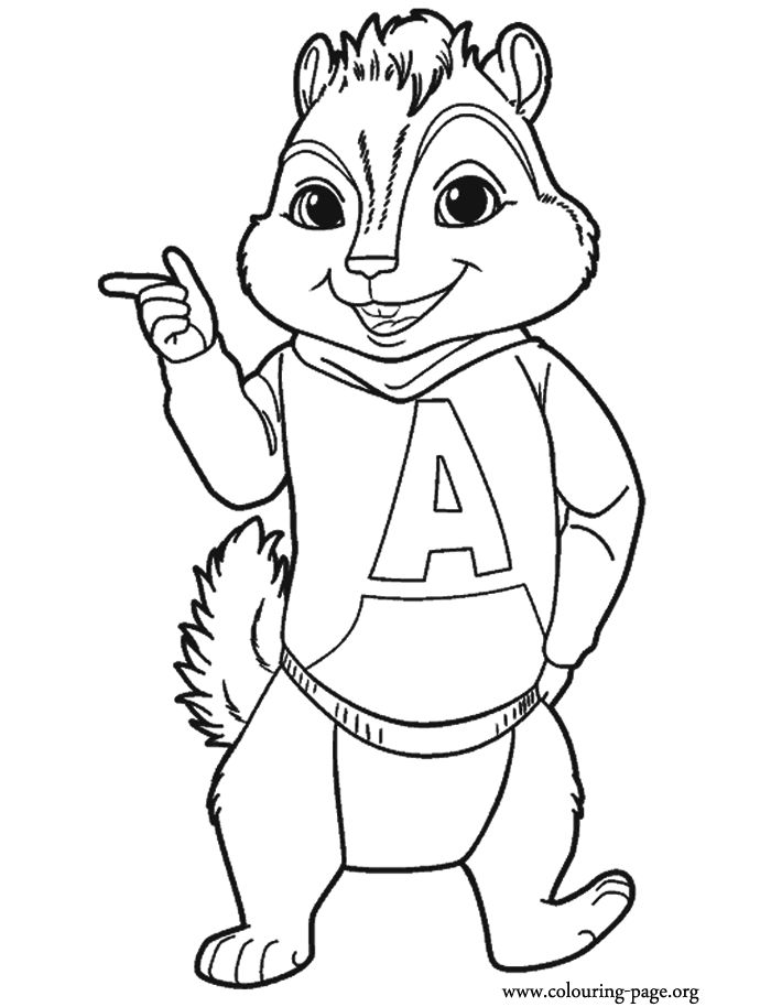 alvin and the chipmunks coloring pages - Theodore Chipmunk Coloring Pages