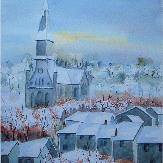Snow in a French Village