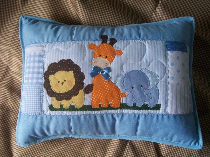almofada patchwork safari
