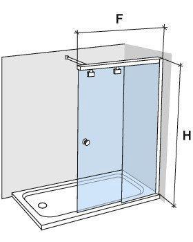 Paroi de douche coulissante 100 cm fixation droite hauteur de 180 220 cm fr250 - Paroi de douche 100 ...