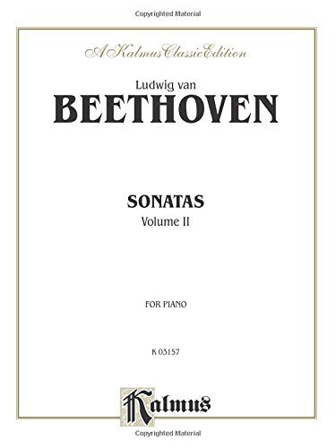 Sonatas (Urtext), Vol 2 (Kalmus Edition):   Contents: No. 16 in G Major * No. 17 in D Minor * No. 18 in E-Flat Major * No. 19 in G Minor * No. 20 in G Major * No. 21 in C Major * No. 22 in F Major * No. 23 in F Minor * No. 24 in F-sharp Major * No. 25 in G Major * No. 26 in E-Flat Major * No. 27 in E Minor * No. 28 in A Major * No. 29 in B-Flat Major * No. 30 in E Major * No. 31 in A-Flat Major * No. 32 in C Minor.