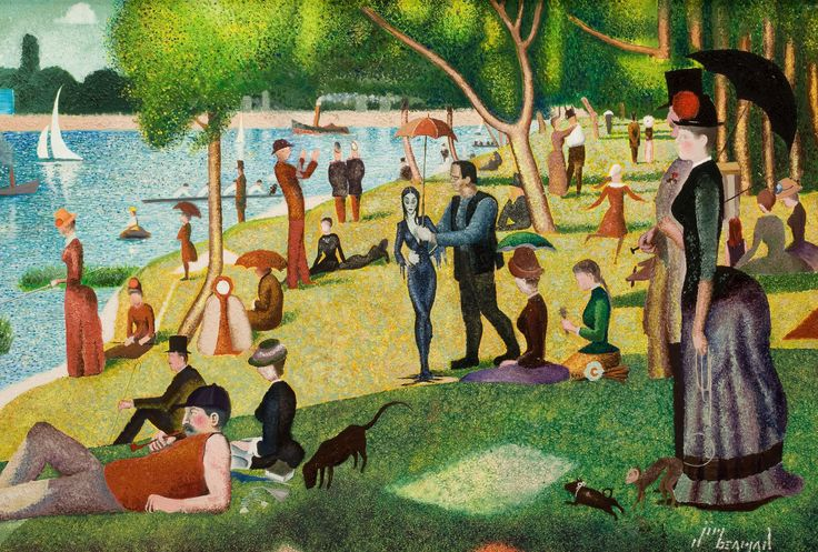 a sunday afternoon on the island of la grande jatte Georges seurat a sunday on la grande jatte 1884, 1884-1886 five of the figures in bathing place are shown looking across the seine to the island of la grande jatte, visible as a clump of green foliage in the upper right it is this.