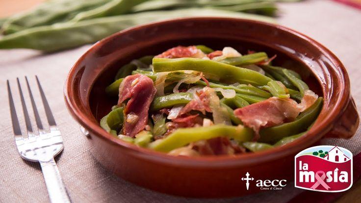 #Judías verdes con jamón. Un plato rico y equilibrado. Perfecto para almorzar o cenar. El paso a paso, en nuestro #BlogLaMasía