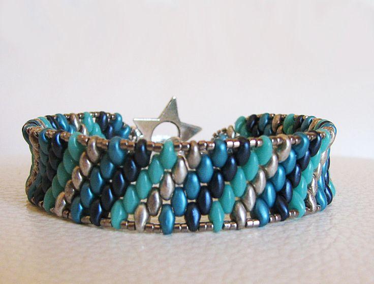 Kit bracelet amitié bandeau en perles Super Duos avec tutoriel : Kits, Tutoriels…