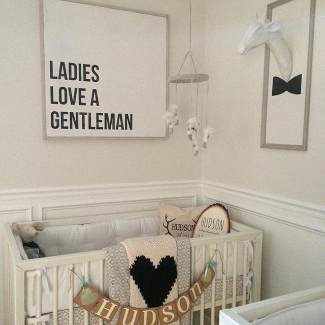 Is This Twin Boy Nursery Not The Sweetest We Loved Her Custom Las Love A Gentleman Tap To See More Images Of