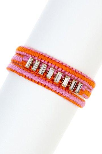 Arm Candy: Baguette Rhinestone Wrap Bracelet by Chan Luu on @HauteLook