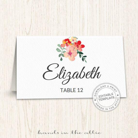 Unique Wedding Printables Templates Diy Placecards Escort Cards