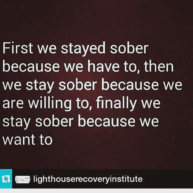 Awesome feeling to Want to stay Sober!!! #sobrietyrocks #sobriety #sober…