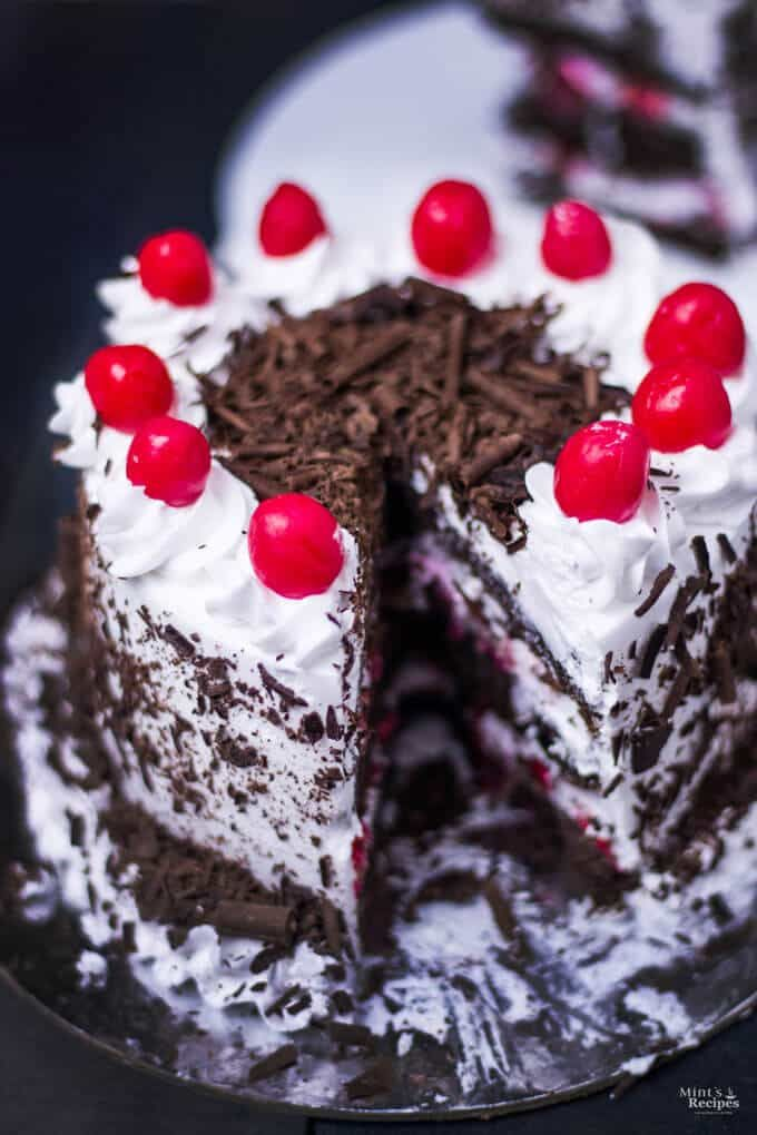 Black Forest Cake In Pressure Cooker Cake Recipes Recipe Pressure Cooker Cake Cooker Cake Black Forest Cake