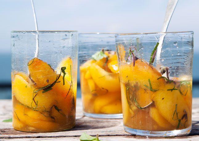 Peaches in Lillet - Bon Appétit