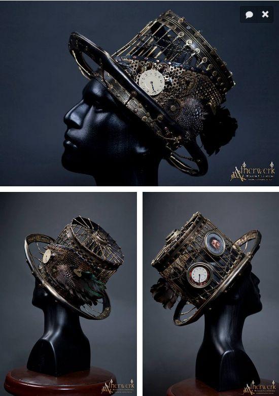 Steampunk Tendencies | Steampunk Hat by Atherwerk #Craft #Design #Steampunk