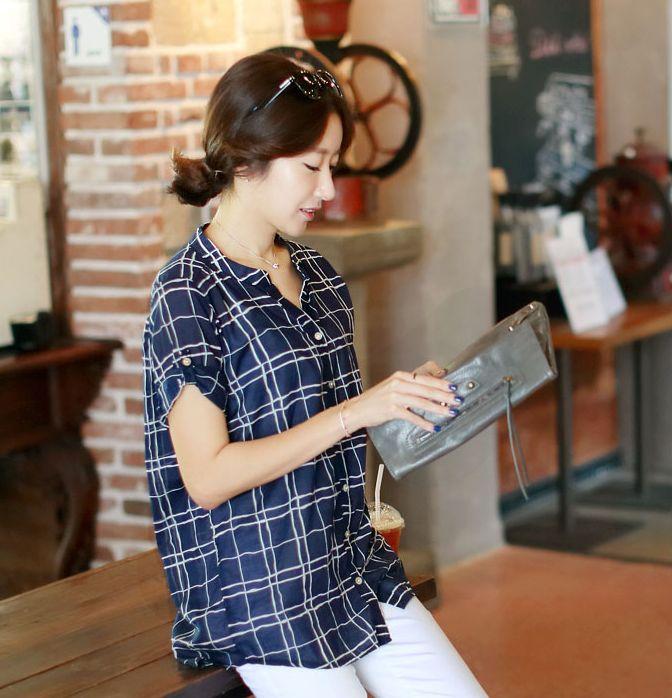 Republic of Korea reigning Women's Clothing Store [CANMART]    #koreafashionshop #fashion_insta  #instaclothes #instashop #Fashion_women #goodquality #goodfabric #korea #dailylook #dailyfashion  #daily_shirts #missy_shirts #korea_shirts #boxy_shirts #pattern_shirts  Check V-shirt China / Size : FREE / Price : 25.80 USD