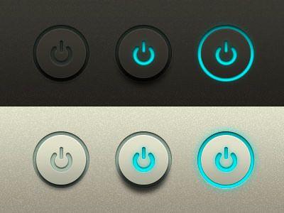 Power Buttons Freebie UI