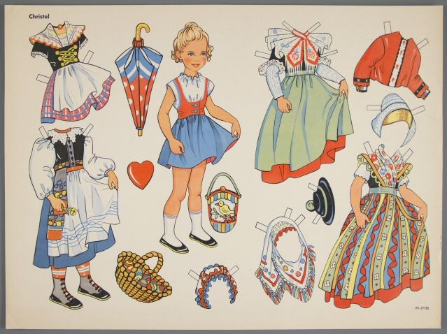 77.5191: Christel | paper doll | Paper Dolls | Dolls | National Museum of Play Online Collections | The Strong