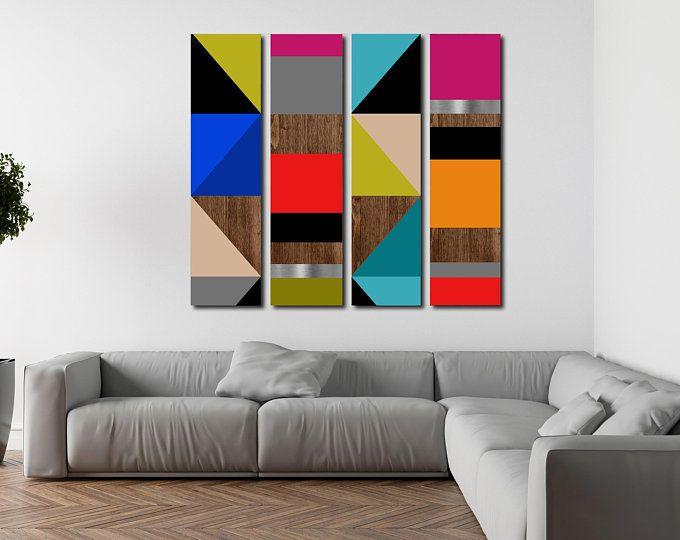 Minimalist Art Large Art Wood Wall Art Mid Century Modern Etsy In 2021 Wood Wall Art Modern Art Acrylic Minimalist Art