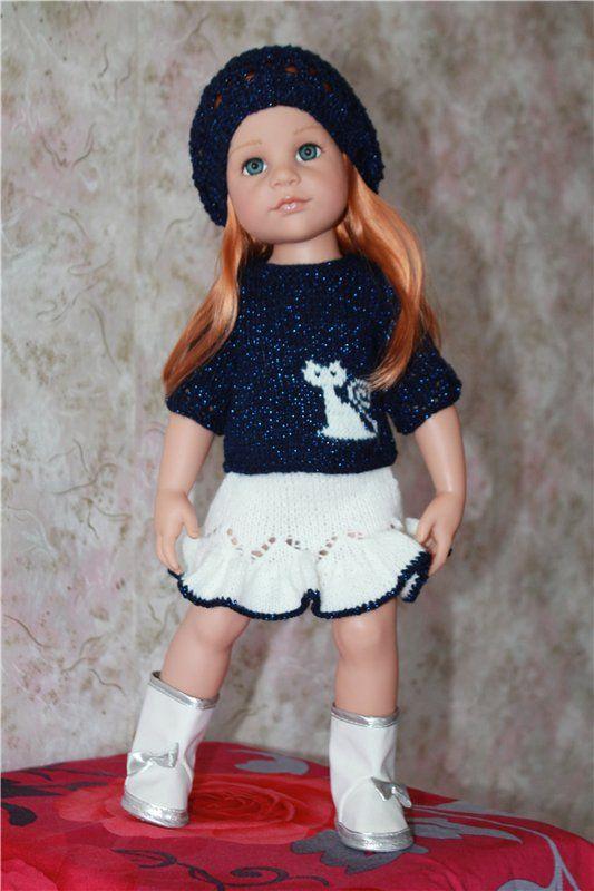 Вязаные наряды для кукол Gotz / Одежда для кукол / Шопик. Продать купить куклу / Бэйбики. Куклы фото. Одежда для кукол