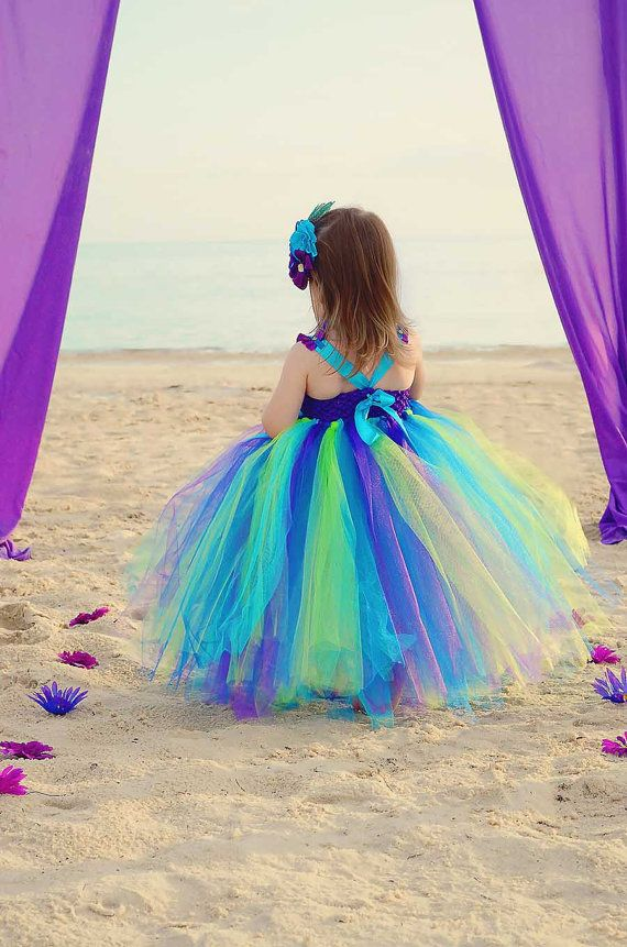 Peacock tutu dress Peacock Flower girl dress by GlitterMeBaby