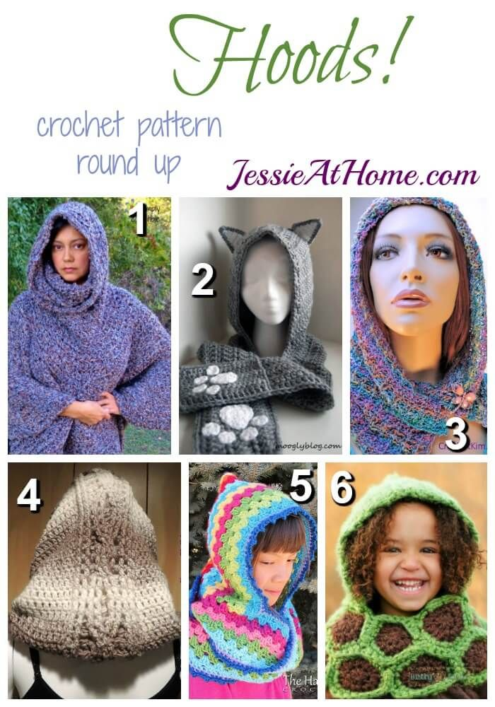 Hoods Free Crochet Pattern Round Up From Jessie At Home