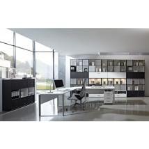 Büromöbel Set »STRAIGHT« in anthrazit - weiß
