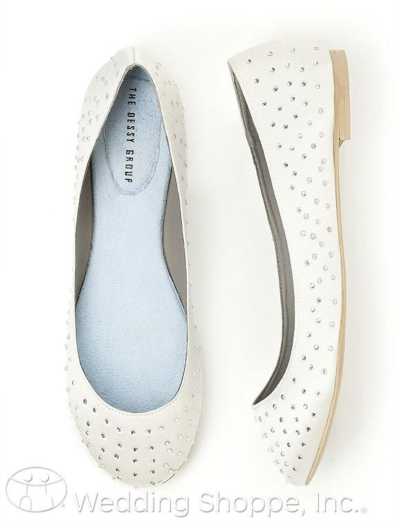 L amour white dessy flats 44