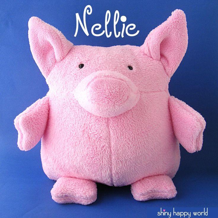 Meet Nellie! She's a huggable, cuddly pig stuffed animal