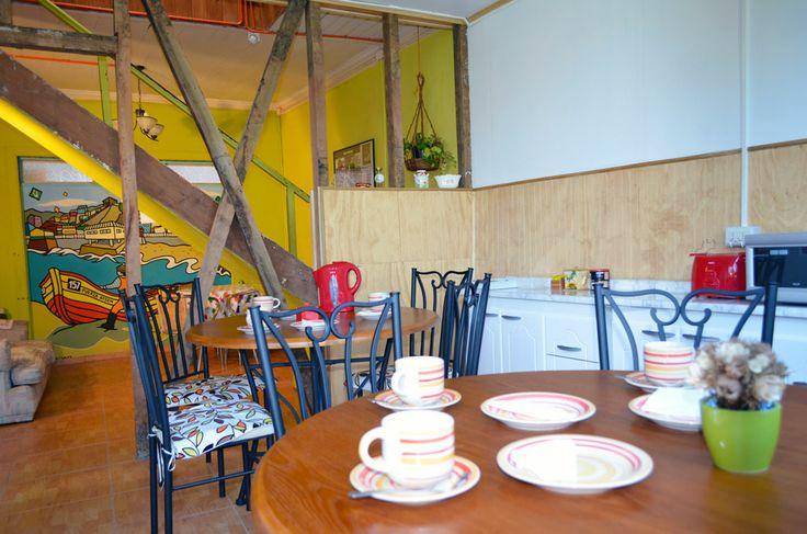 Vista Desayunador, hostal en Valparaíso.