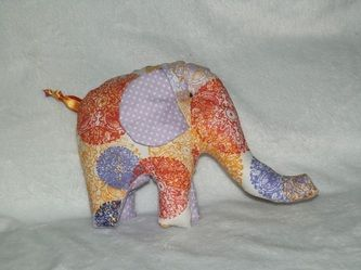 Handmade Taggy Elephant Toy