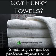 Got Funky Towels? There is nothing worse than getting out of a hot shower and wiping a fresh, clean towel over your face and finding that your towel smells more like it's been sitting on the bathroom floor for a month. Yuck! So why does this happen? Too much of...More