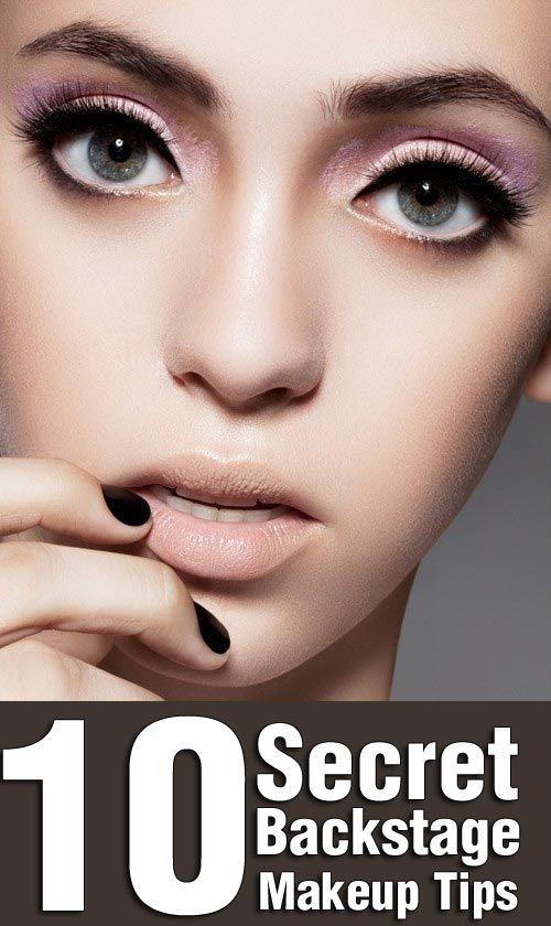 10 Top Secret Backstage Makeup Tips
