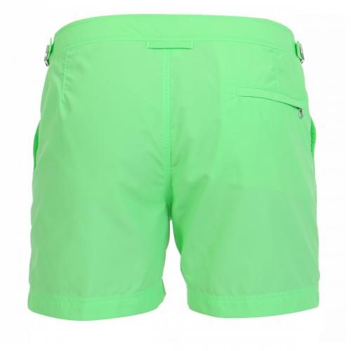 NYLON BOARDSHORTS WITH ADJUSTABLE SIDE TABS - Setter nylon Boardshorts with two front pockets and a zippered back pocket, adjustable side tabs with metal buckle, internal mesh, zip and button fly.  #mrbeachwear #beachwear #swimshort #summer #beach #mens #fashion #orlebarbrown  #green