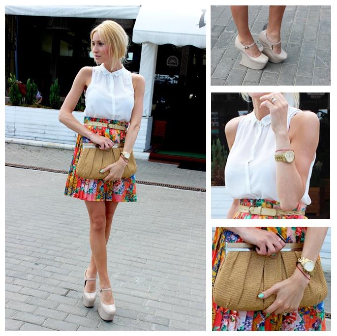 Anca Oniga Floral-Skirt: Anca Oniga, Dream Closet, Oniga Floral Skirt, Beige Fashion
