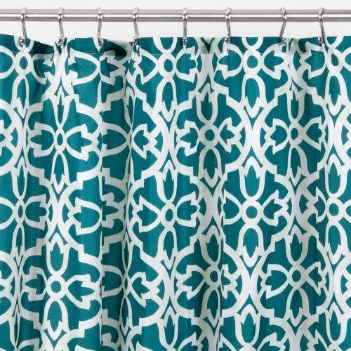 Interdesign Adel Fabric Shower Curtain Teal Sage Green